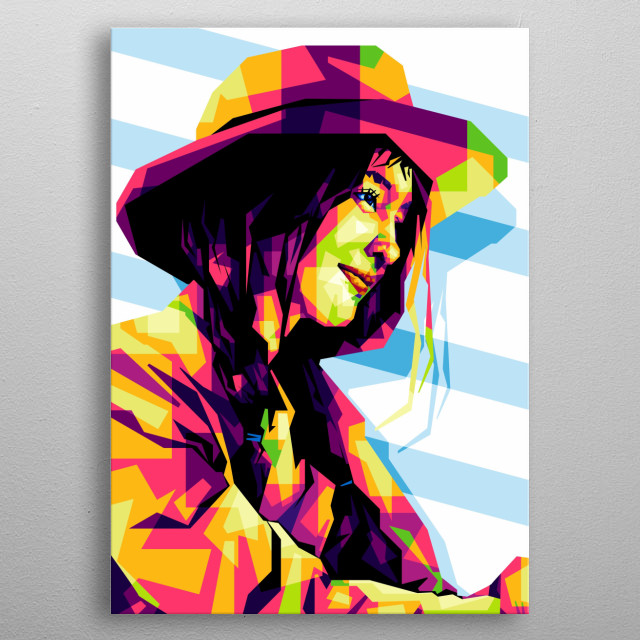 I made this illustration of Cowboy Woman from the CorelDRAW X6 Software. metal poster