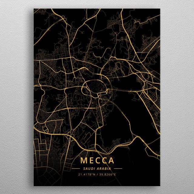 Mecca, Saudi Arabia metal poster