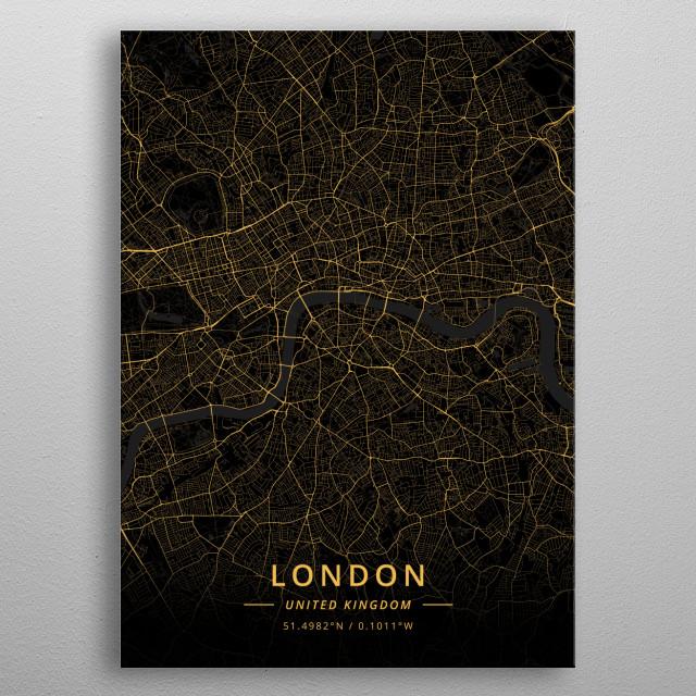 London, United Kingdom metal poster