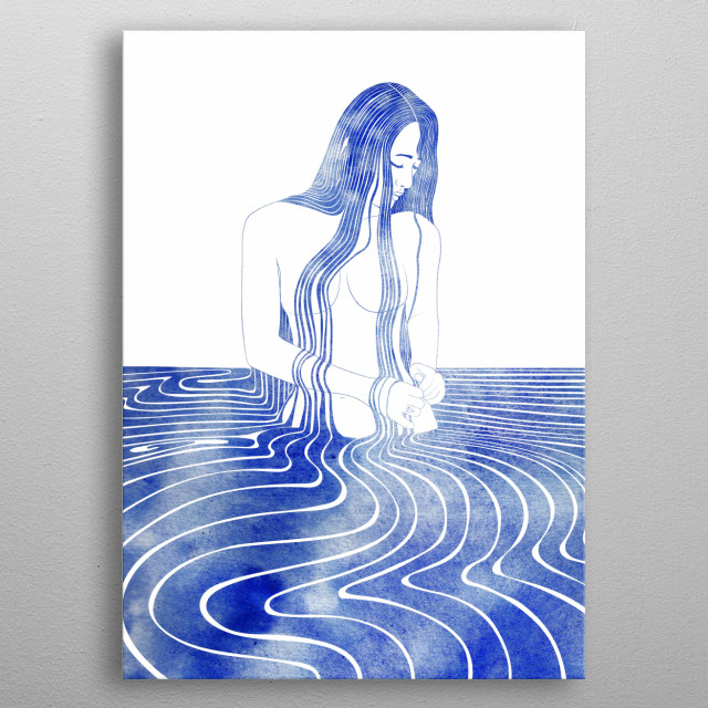 Amatheia —  A mythological nereid. One of the daughters of the Nereus, the Old Man of the Sea metal poster