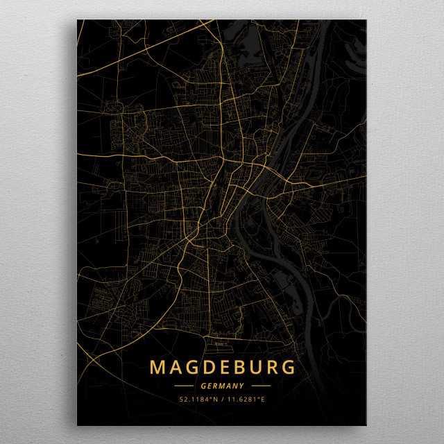 Magdeburg, Germany metal poster