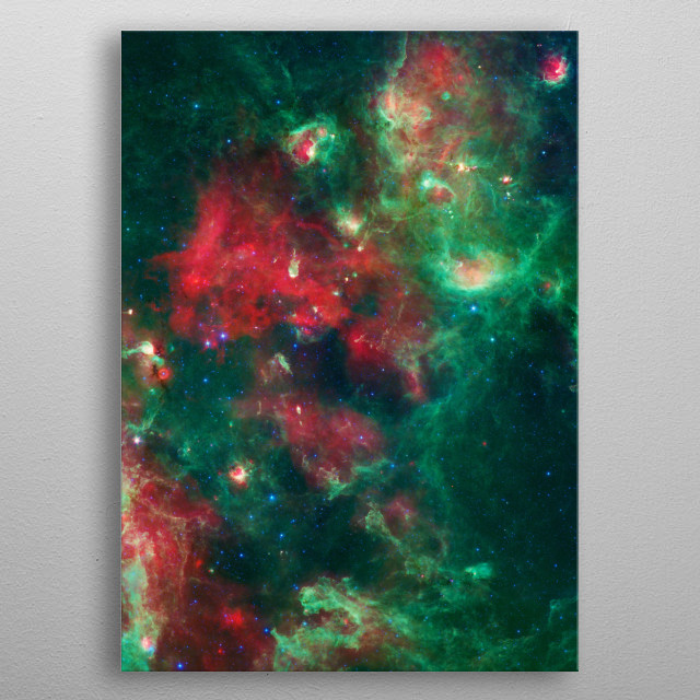 Cygnus-X is a massive star formation region located in the constellation of Cygnus at a distance from the Sun of 1.4 kiloparsecs  metal poster