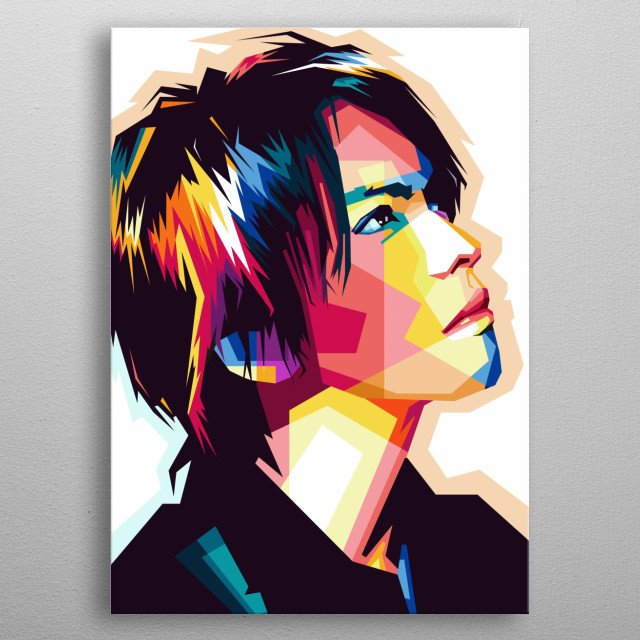 cool style WPAP Pop Art, Awesome Photo metal poster