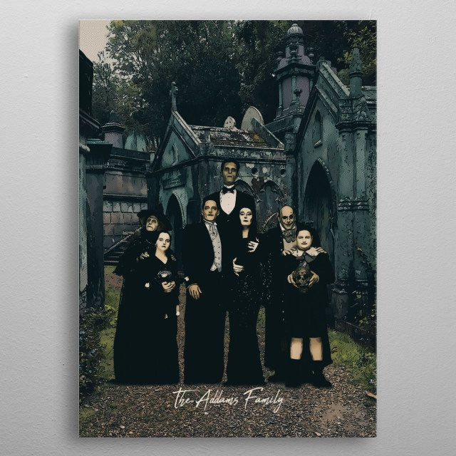 The Addams Family metal poster