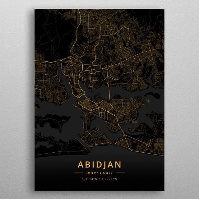 Abidjan, Ivory Coast metal poster