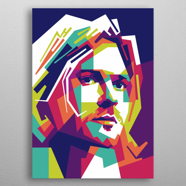 Kurt Donald Cobain was an American singer, songwriter, and musician, best known as the guitarist and frontman of the rock band Nirvana. metal poster