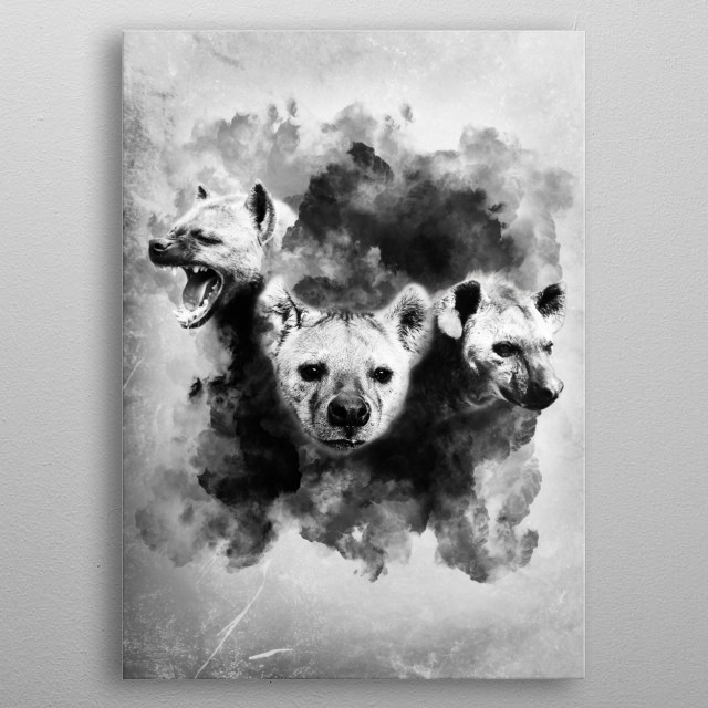 Abstract Hyenas Nature Poster Print Metal Posters Displate