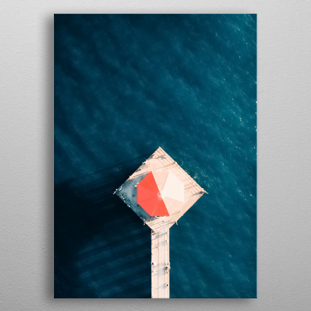 Water 140 metal poster