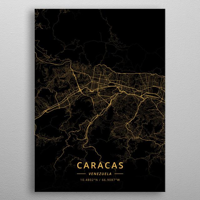 Caracas, Venezuela metal poster