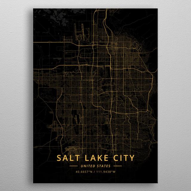 Salt Lake City, US metal poster