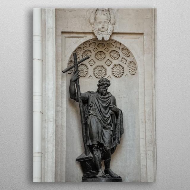 Statue 65 metal poster