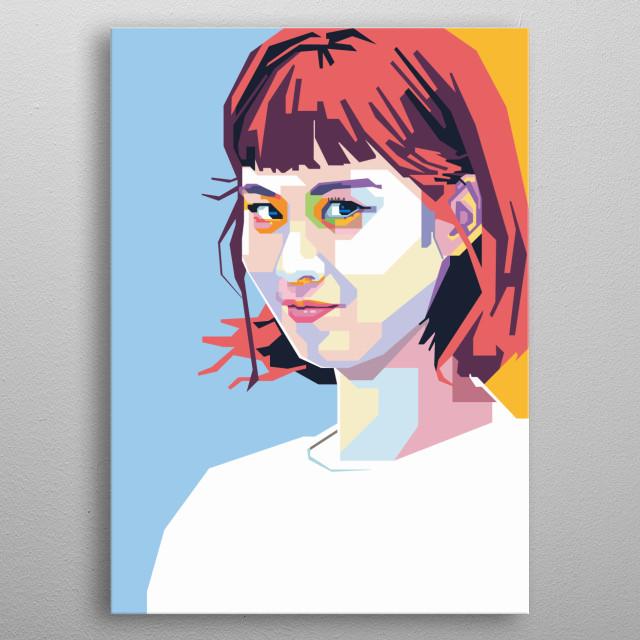 SNSD Seohyun in WPAP Art metal poster