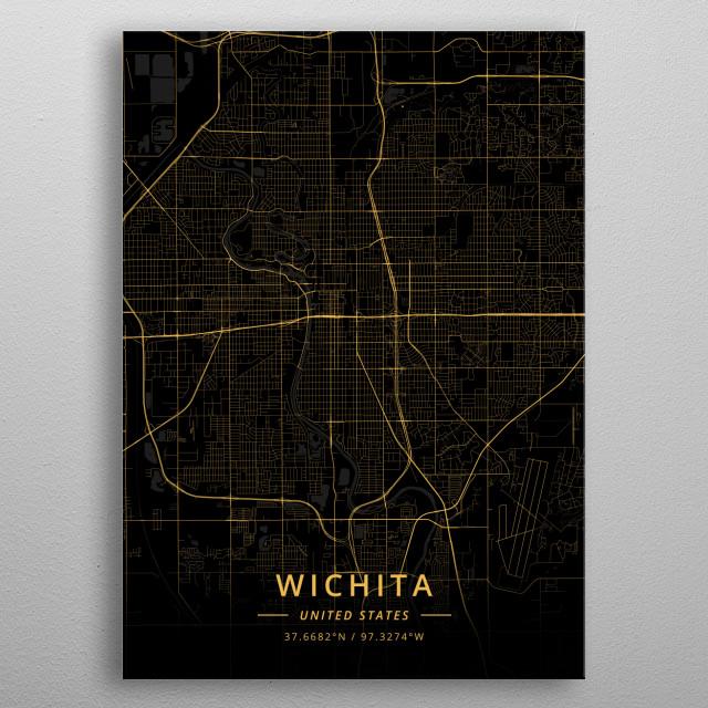 Wichita, United States metal poster