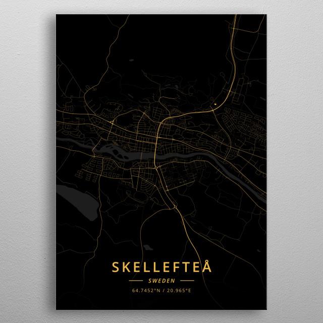 Skelleftea, Sweden metal poster