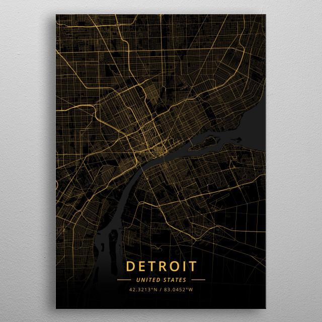 Detroit, United States metal poster