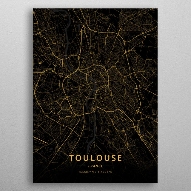 Toulouse, France metal poster