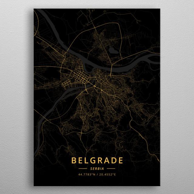 Belgrade, Serbia metal poster