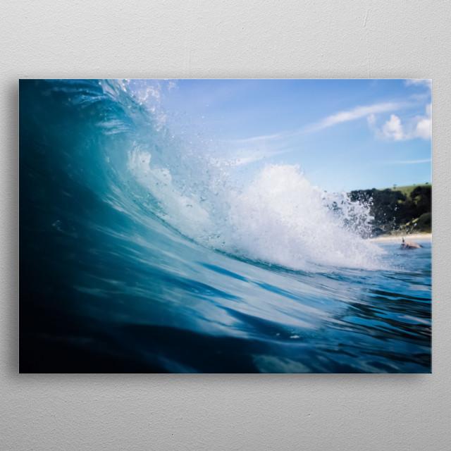 Water 128 metal poster