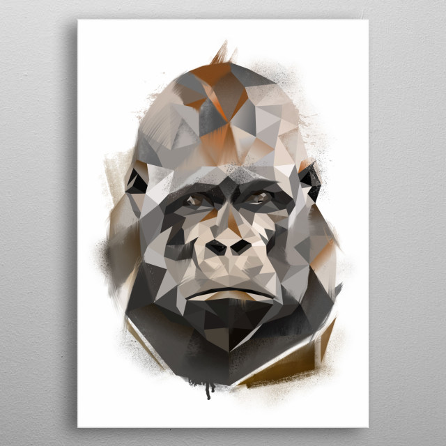Gorilla from Modern Animal Collection. Check out the collection in the my main page.  metal poster