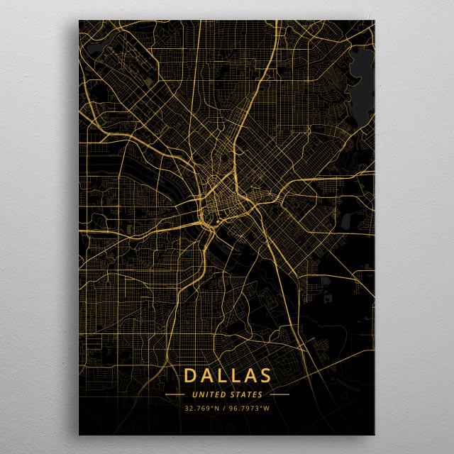 Dallas, United States metal poster