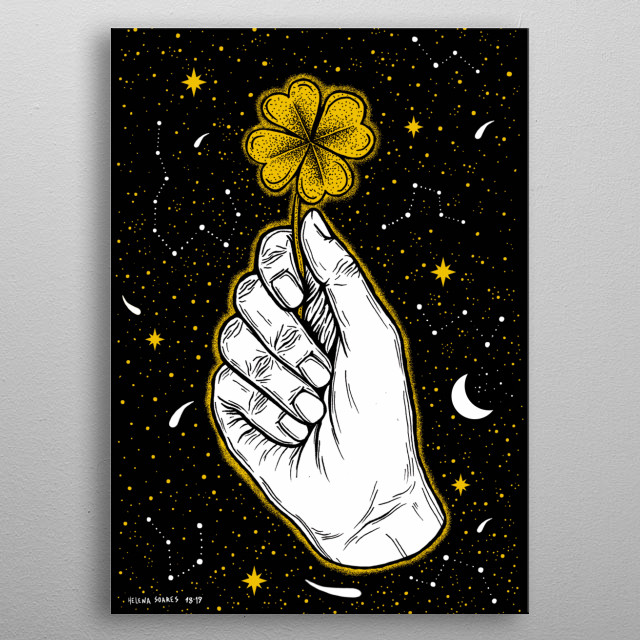 Sometimes it feels like all the stars align. metal poster