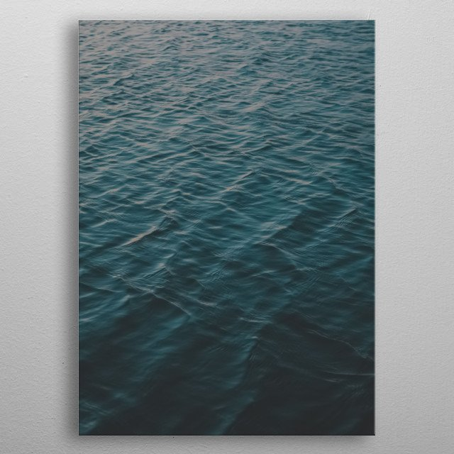Water 214 metal poster