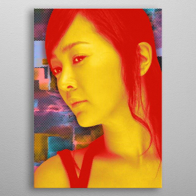 Korean Actress metal poster