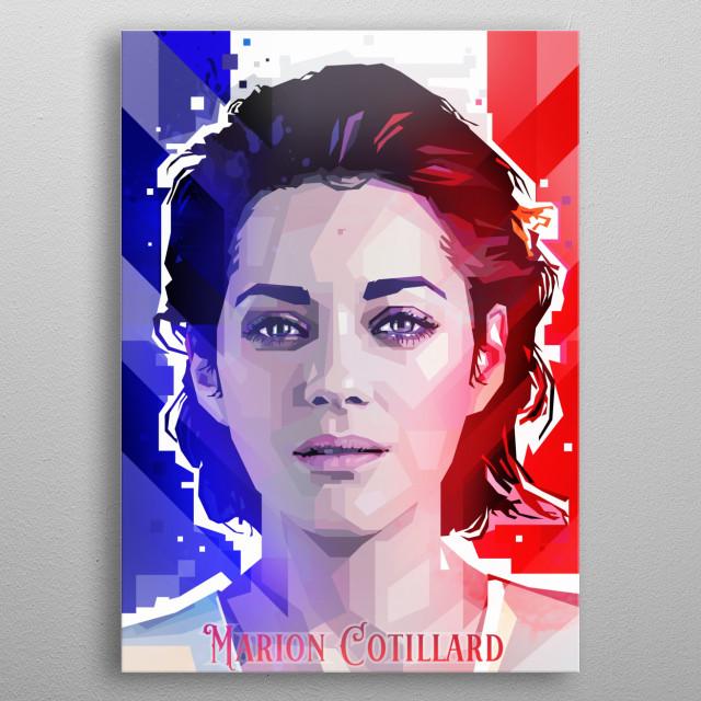 Marion Cotillard Pop Art Pop Art Poster Print Metal