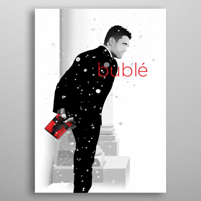 Minimalist Michael Buble metal poster