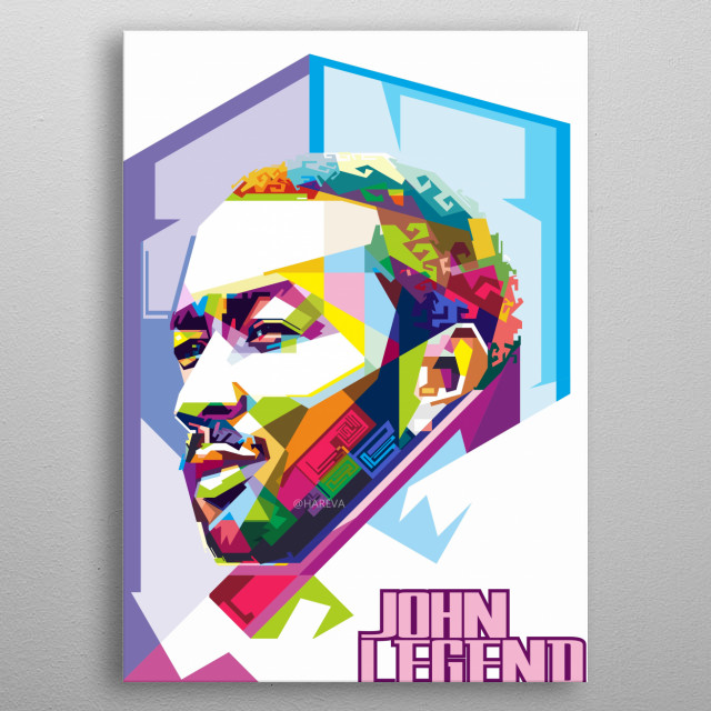 John Stephens better known by his stage name John Legend, is an American soul singer, songwriter and pianist. He has won the Grammy Awards 6 metal poster