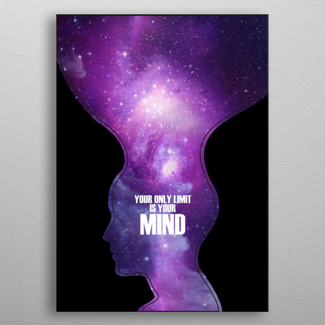 Your only limit is your mind entrepreneurial lifestyle Displate is perfect for people who hustle and love to be CEO of their own startup metal poster