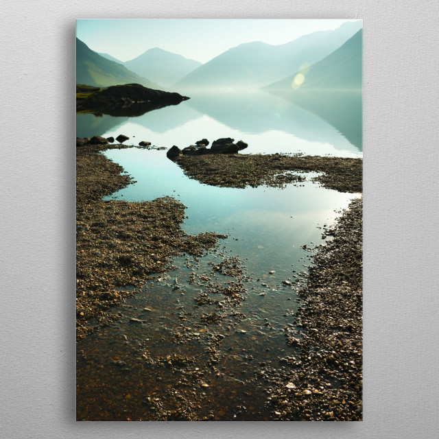 The Lake District, also known as the Lakes or Lakeland, is a mountainous region in North West England. metal poster