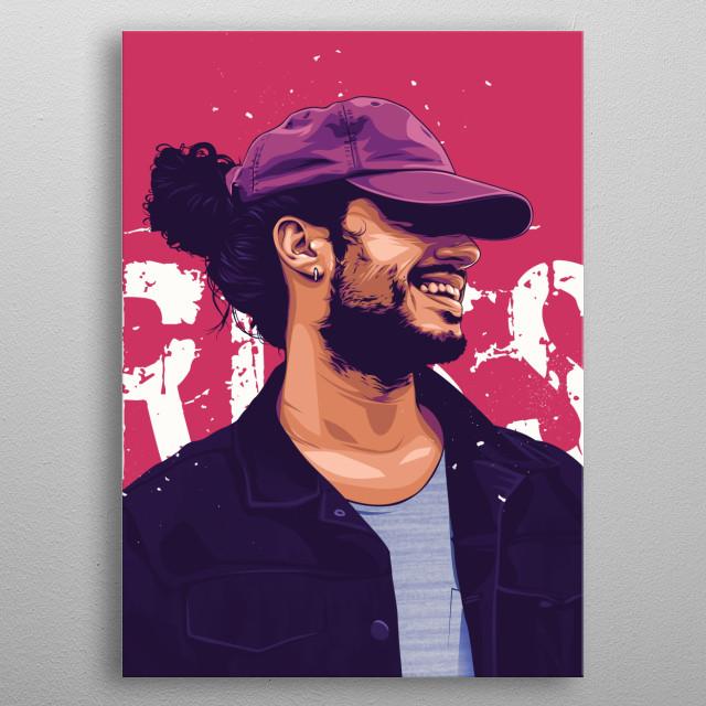 Russ Losin control the vector art project full HD illustration metal poster