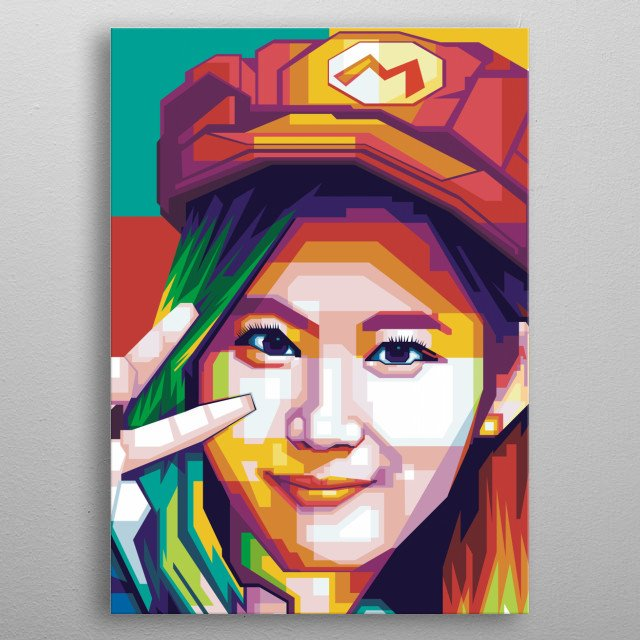 I make this fanart sana twice for fun hope fans will take it out metal poster