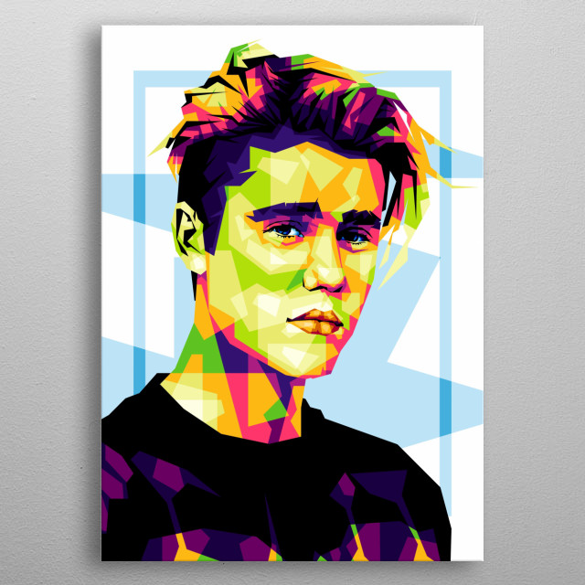 I made this illustration of Justin Bieber from the CorelDRAW X6 Software. metal poster