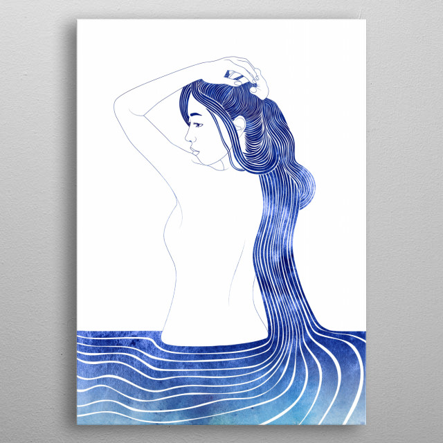 Amphithoe —  A mythological nereid. One of the daughters of the Nereus, the Old Man of the Sea. metal poster