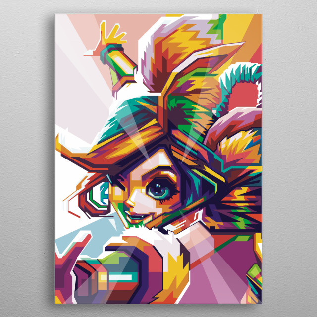 i make this awesome popart nana mobile legends and i hope player mobile legend see and download this metal poster
