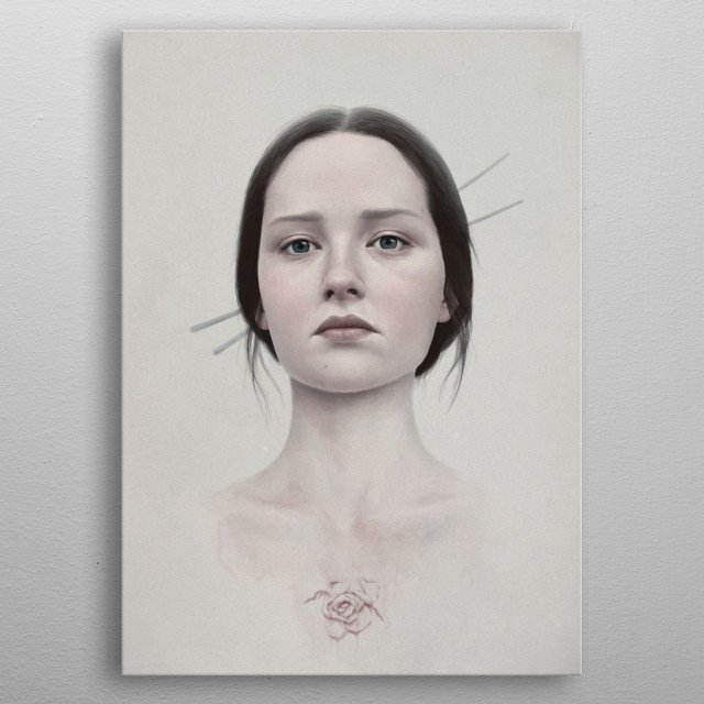 Portrait of a girl metal poster