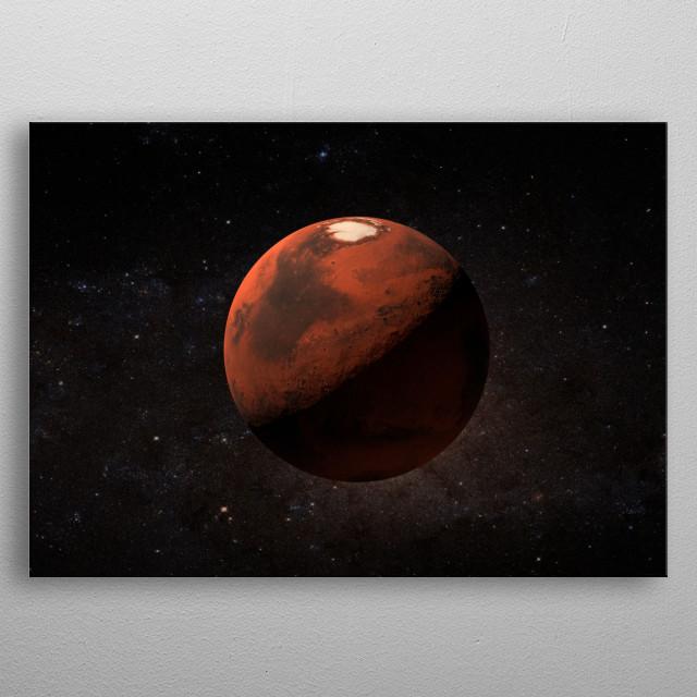 Clean portrayal of Mars. metal poster