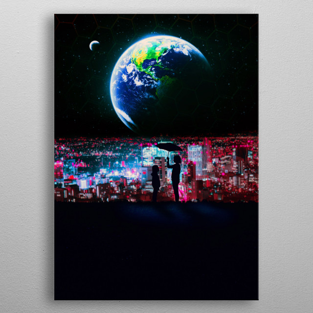 Sisters New World a cyberpunk inspired artwork metal poster