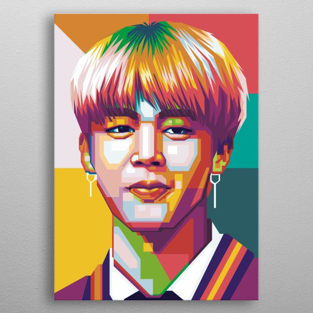 i make this fanart for fans btrs army that looking for jimins popart hope you pick this metal poster