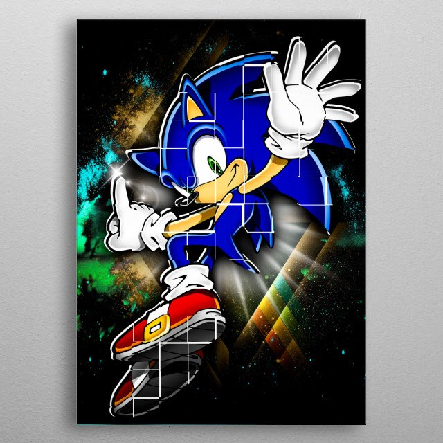 Very eye catching and colorful this will look lovely at home. metal poster