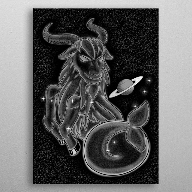 The Constellation of Capricorn metal poster
