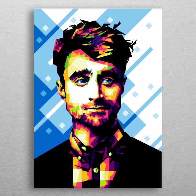 I made this illustration of Daniel Radcliffe from the CorelDRAW X6 Software. metal poster