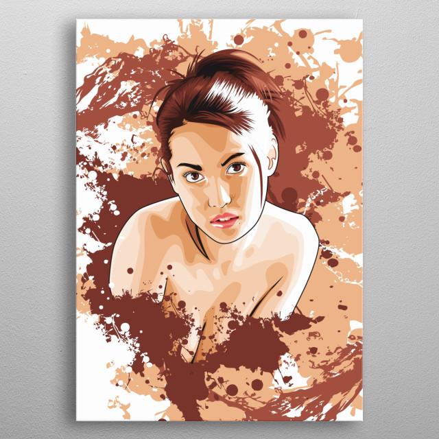 Maria Ozawa vector metal poster