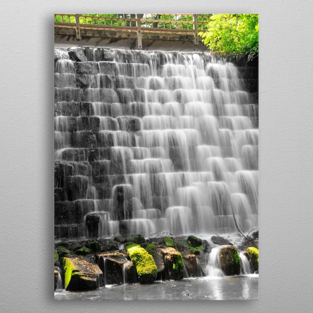 River Cascade in North Yorkshire metal poster
