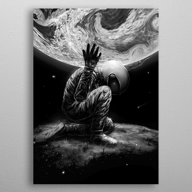 Inspired by this Greek character Atlas. metal poster