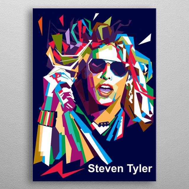 Steven Tyler is an American singer, songwriter, musician, actor, and former television music competition judge. metal poster