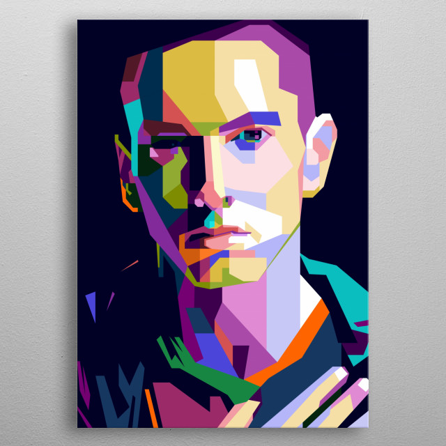 A tribute to the legend of the latented rapper and Hip Hop musician in the world, Eminem. metal poster