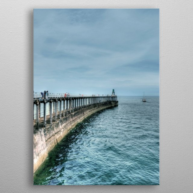Whitby Pier in North Yorkshire metal poster